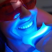 a patient getting Zoom! teeth whitening in Altamonte Springs